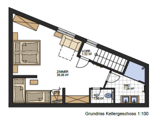 "Floor Plan Apartment Vinschgau with Room ""Alm"""